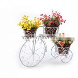 White metal craft bicycle flower stand with European style