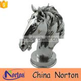 classical horse head stainless steel outdoor sculpture for wholesale NTS-574X