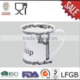 Promotional gift eco friendly drinkware plastic melamine personalized mug with handle