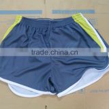100%polyester loose running short, breathable and comfortable coolmax fabric for running, trianing