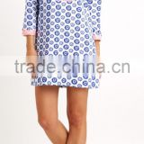 Hot sale cover up beach embroidery printed dress