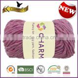 Charmkey fancy roving knitting yarn acrylic polyester blended yarn melange yarn for scarf