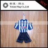 Football club advertising window decoration mini t shirt for soccer fans