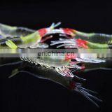 Colored silicone Shrimp lures