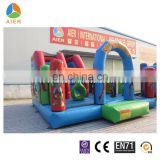 New design boys bouncy castle inflatable super hero park