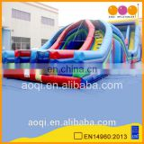 AOQI adult X-LANE obstacle course with slide inflatable obstacle challenge for sale