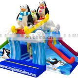 2015 new design fun sledding inflatable combo for kids for sale