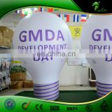 Event Display Inflatable LED Light Up Bouncing Ball Custom Inflatable Light Bulb Shape Glow Balloon
