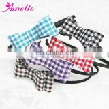 Checked Knitted Fabric Hairband Headband
