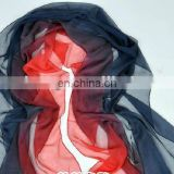Extra Long Red Rose Printed Silk Scarf
