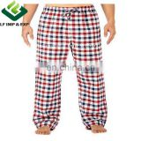 Cotton Flannel Pajama Lounge Pants- Red/White/Blue Big Checks