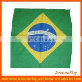 custom multifunctional Brazil flag square scarf