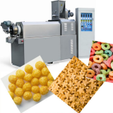 Corn Snacks Making Machine Electricity , Oil Diesel Corn Puff Extruder Machine Rice Powder