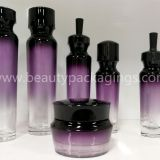 Stock Wholesale Colored Glass Dropper Cosmetic Lotion Bottles Cream Jars