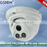 Cheap cost Hybrid Two Array Leds 720P TVI-AHD-CVI-CVBS All in one Dome Camera with 20 meters ir distance