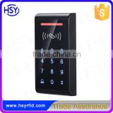 HSY-S187T Black high quality wiegand26 input 800 card users standalone access control keypad with touch panel