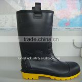 black pvc winter boots/winter fur boots for men