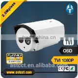 1080p Bullet Camera arry Led cctv indoor & outdoor 2MP TVI Color IR camera 4.0mm fixed lens OSD Controller FCC,CE,RoHS