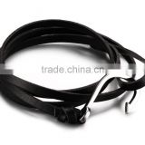 wholesale High Quality fashion Jewelry unisex braided leather bracelet Stainless Steel Hook Leather Bracelet