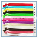 Wholesale cheap multi colors fold over elastic hair tie FOE hair ties