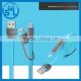 Colorful Micro USB 2in1 data charger cable for iphone , android data cable , ios data cable