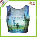 sublimation customized cheerleading crop tops, womens custom crop top                                                                         Quality Choice