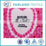 Rose heart printing double sided wedding quilt fabric Flannel
