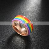 titanium ring,steel ring gold plated,rainbow color metal ring                                                                                                         Supplier's Choice