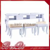 Movable nail manicure table with dust collector