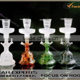 hot selling colored glass hookahs shisha with leather box
