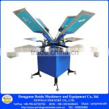 Floor model doubel carousel 4-4 manual silk screen printing press with alum table and strong base