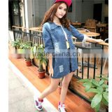 DJ213781 2014 China Wholesale Hot Selling Blue Denim Jacket Women /Lady Denim Jacket