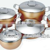 2015 New Products 12pcs High Quality Aluminium Cookware Set With Non-stick Coating Inside For Wholesale