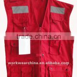 wholesale safety reflective vest for men/safety vest with led light and Cheap Reflective Vest