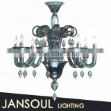 european style big modern high qulity turkish bronze murano art glass plate crystal chandelier