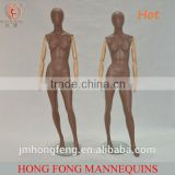 2014 hongfong fashion wooden hands female adjustable mannequins