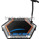 2015 hot sale mini Fitness Trampoline with handle bar                                                                         Quality Choice