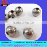 Solid hollow punch through drilled hole stainless steel alloy tin Copper iron embryo round bead