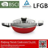 ceramic electric wok with glass lid