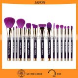 Private label purple 15pcs brushes cosmetic your own brand makeup                                                                         Quality Choice