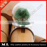 2014 Mini Forest Tree Glass Dome Globe Terrarium Ring With Copper Tree GHBR-006