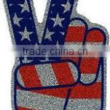 Paper Made Flag glitter sticker/Rhinestone Wholesaler of Flag tattoos sticker