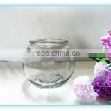 2016 Hot sale machine made clear glass bowl/fish bowl for wholesale