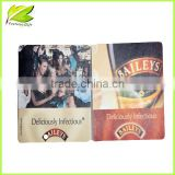 2014 Cardboard Paper beer Coaster, Promotional Absorbent Paper beer Coaster