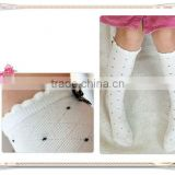wholesale hot selling popular kids knee high socks small MOQ
