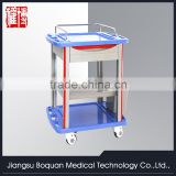 multi-function one drawer plastic-steel columns with a plate for lading 750 ABS medicine trolley