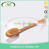 100% Natural Dry Body Brush for Dry Brushing Skin with Long Detachable Handle and Boar Bristles
