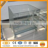 Alibaba metal wire mesh container, storage cage with wheels used,mesh box wire cage metal bin storage container