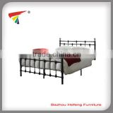 Wood slats bedroom furniture metal double bed frame