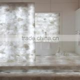Precious clear quartz gemstone for counter natural quartz stone polished slab for counter ,table                                                                         Quality Choice